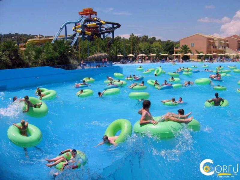 water park in corfu - aqaualand in corfu - ionian summer