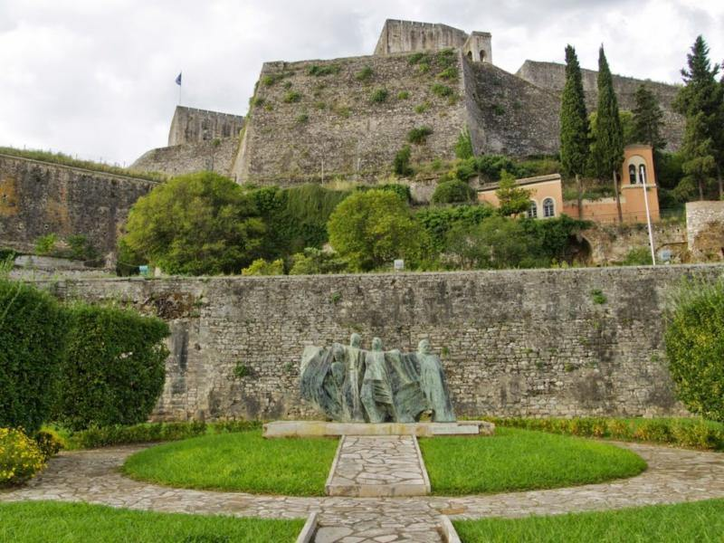new fortress in corfu - corfu new fortress - ionian summer