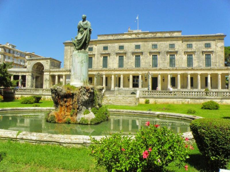 royal palace in corfu - corfu museum of asia art - ionian summer