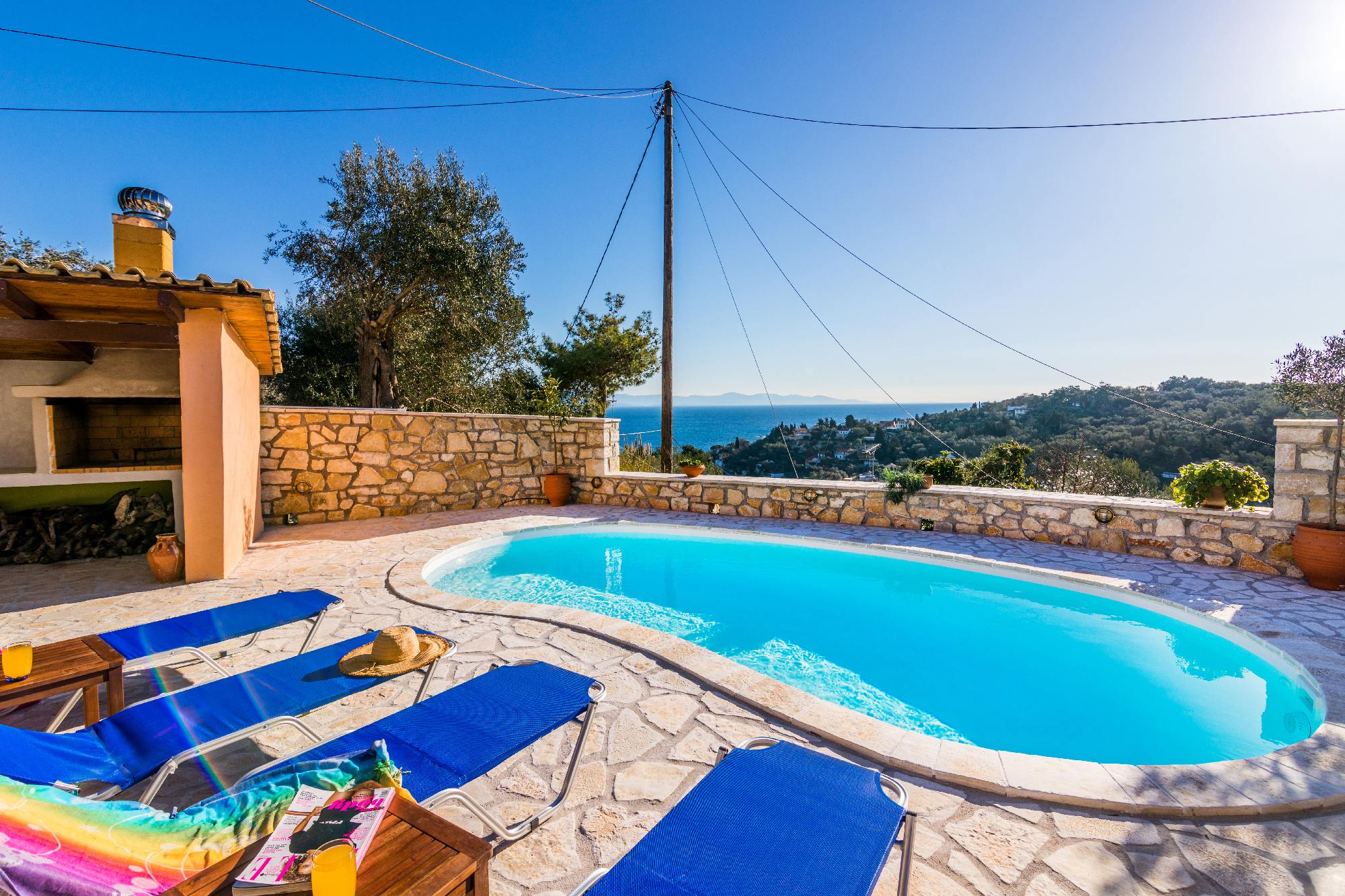 paxos loggos accommodation - paxos seaview villa - ionian summer