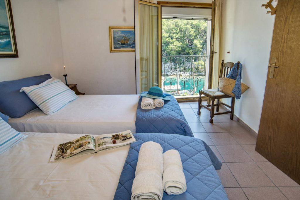paxos seaview rooms - paxo city rooms - ionian summer