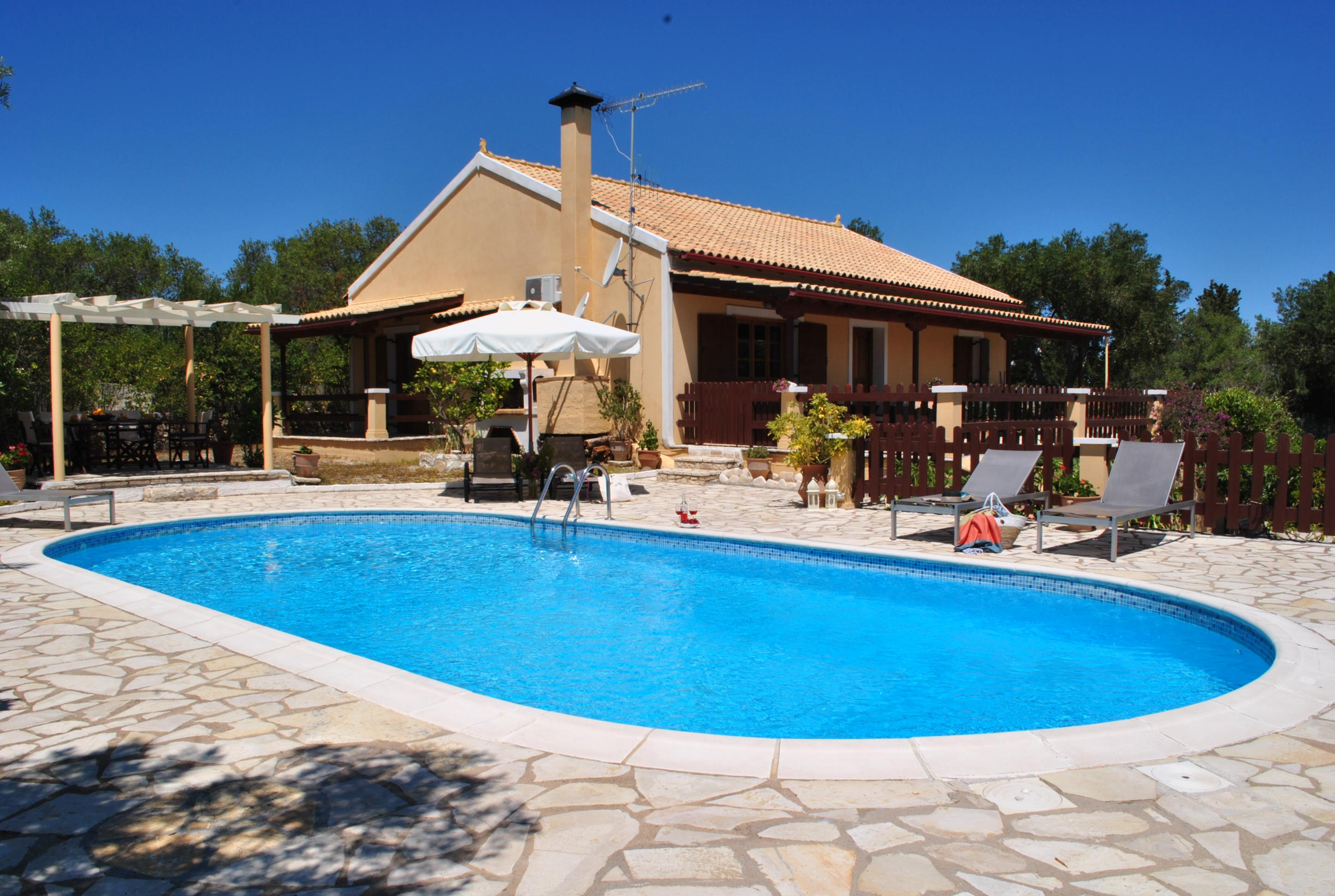 rent a house in paxos - paxos pool villas - ionian summer