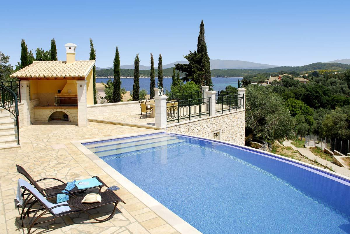 kassiopi private villas - kassiopi beach villas - ionian summer