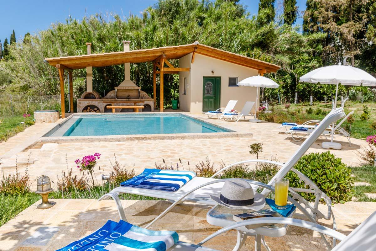 corfu private pool villas - corfu luxury villas - ionian summer