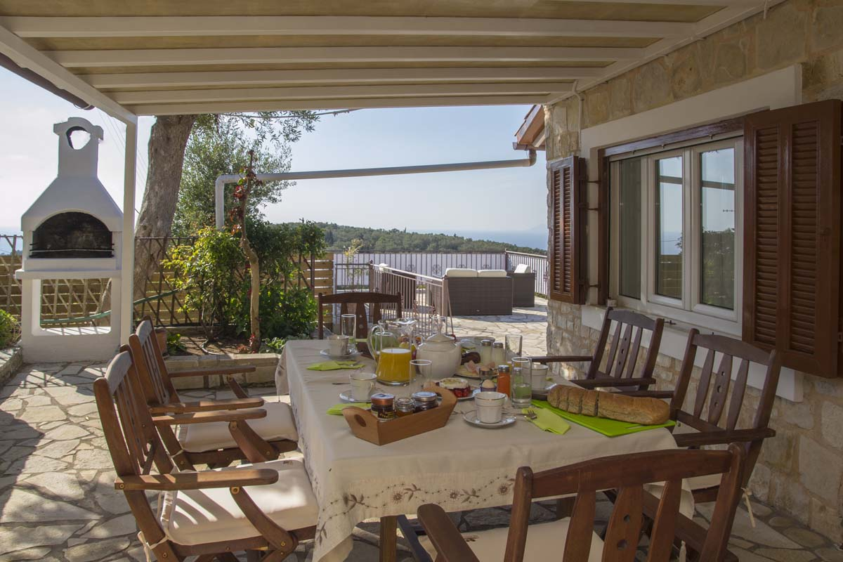 family villa in paxos - pool villas in paxos - ionian summer